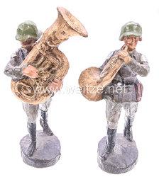 Elastolin - Heer 2 Musiker marschierend
