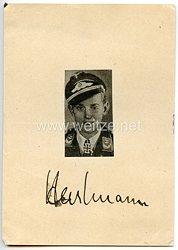 Luftwaffe - Originalunterschrift von Ritterkreuz- und Brillantenträger Leutnant Erich Hartmann