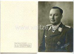 Luftwaffe - Originalunterschrift von Ritterkreuzträger Oberst Hanns-Horst v.Necker