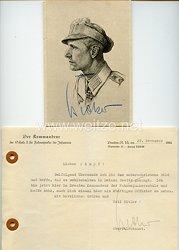 Heer - Originalunterschriften von Ritterkreuzträger Leutnant Hans Becker
