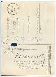 Heer - Originalunterschrift von Ritterkreuzträger Oberleutnant Wilhelm Vielwerth