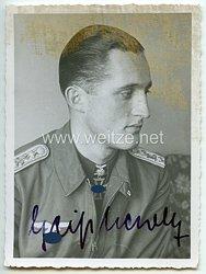 Luftwaffe - Originalunterschrift von Ritterkreuzträger Oberleutnant Friedrich Geißhardt
