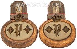 Oldenburg Paar Epauletten für einen Hauptmann im Infanterie-Regiment Nr. 91