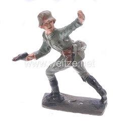 Lineol - Heer Stoßtruppführer vorgehend mit Revolver