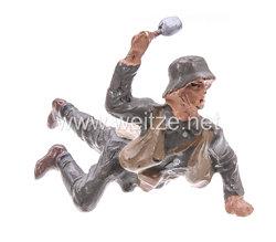 Lineol - Heer Soldat liegend Handgranate werfend