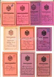 1. Weltkrieg - Konvolut von 10 x Zivilversorgungsschein verschiedener Offiziere