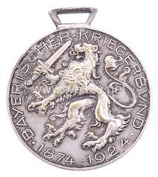 Bayern Bayerischer Kriegerbund 1874-1924 Erinnerungsmedaille an das 50-jährige Bestehen