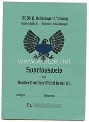 HJ - Sportausweis des Bundes Deutscher Mädel in der HJ