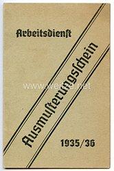 Reichsarbeitsdienst ( RAD ) - Ausmusterungsschein 1935/36