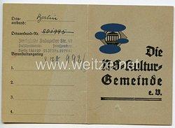 III. Reich - Die NS-Kulturgemeinde e.V. - Mitgliedskarte