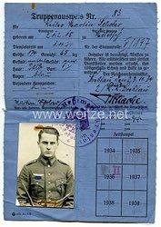 Heer - Truppenausweis für einen Reiter im 2./Reiter-Regiment Breslau
