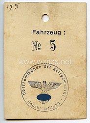 Oberkommando der Kriegsmarine - Hausverwaltung - Anhänger für Fahrzeug No. 5
