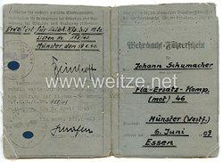 Wehrmacht-Führerschein für einen Soldaten der Fla-Ers.-Komp.46 (mot)