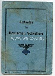 III. Reich - Ausweis der Deutschen Volkslistefür eine Frau des Jahrgangs 1893 aus Spandau