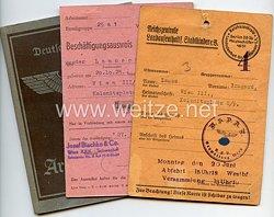 III. Reich - Reichszentrale Landaufenthalt für Stadtkinder e.V. Berlin - Datenkarte für ein Mädel des Jahrgangs 1925 aus Wien