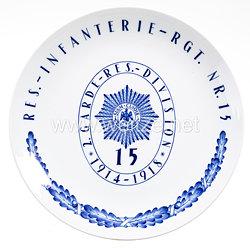 Preußen - Meissner Regimentsteller, Res-Infanterie-Rgt. Nr. 15