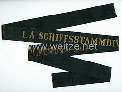 """Reichsmarine Mützenband """"I A Schiffstammdivision der Ostsee I A"""""""