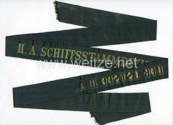 """Reichsmarine Mützenband """"II A Schiffstammdivision der Ostsee II A"""""""