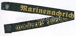 """Kriegsmarine Mützenband """"Marinenachrichtenstelle Borkum"""""""