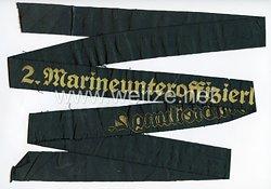 """Kriegsmarine Mützenband """"2. Marineunteroffizierlehrabteilung 2."""""""