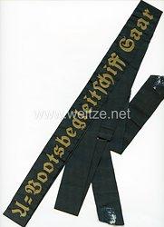 "Kriegsmarine Mützenband ""U-Bootsbegleitschiff Saar"""