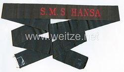 """Mützenband """"S.M.S. Hansa"""" für Schiffsjungen in Rot"""