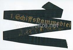 """Kriegsmarine Mützenband """"1. Schiffstammabteilung der Ostsee 1."""""""