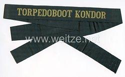 """Reichsmarine Mützenband """"Torpedoboot Kondor"""""""
