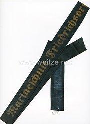 "Kriegsmarine Mützenband ""Marineschule Friedrichsort"""