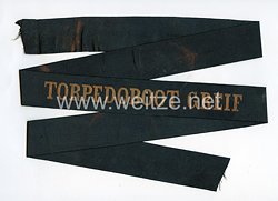 """Reichsmarine Mützenband """"Torpedoboot Greif"""""""