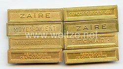 Frankreich 8 Spangen für Auszeichnungen nach 1945