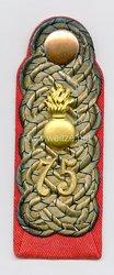Preußen 1. Weltkrieg Einzel Schulterstück für einen Major im Mansfelder Feldartillerie-Regiment Nr. 75