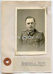 Heer - Originalunterschrift von Ritterkreuzträger Major Wilhelm Rüngeler