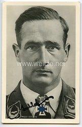 Luftwaffe - Faksimileunterschrift von Ritterkreuzträger Major Gordon Gollob