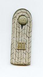 Preußen 1. Weltkrieg Einzel Schulterstück feldgrau für einen Leutnant im Bekleidungsamt des III. Armeekorps