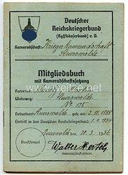 Deutscher Reichskriegerbund ( Kyffhäuserbund ) e.V. - Mitgliedsbuch