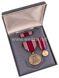 USA - Good Conduct Medal in Case with Miniature and Ribbon Bar