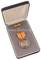 USA - Asiatic Pacific Campaign Medal in Case with Lapel Pin and Ribbon Bar