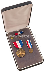 USA - Departement of Transportation 9.11.2001 Sacrifice Medal in Case with Minature, Lapel Pin and Ribbon Bar