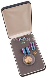 USA - United States Armed Forces Humanitarian Service Medal in Case with Miniature, Lapel Pin and Ribbon Bar