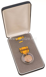 USA - Americain Defense Service Medal in Case with Lapel Pin and Ribbon Bar ( Fleet )