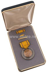 USA - Americain Defense Service Medal in Case with Lapel Pin and Ribbon Bar ( Foreign Service )