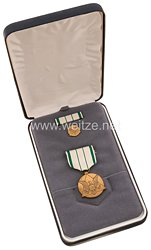 USA - Departement of the Army Commanders Award for Public Service Medal in Case with Lapel Pin and Ribbon Bar