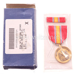 USA - National Service Medal in Case with Ribbon Bar