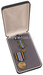 USA - Armed Forces Expeditionary Service Medal in Case with Miniature, Lapel Pin and Ribbon Bar