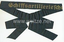 """Kriegsmarine Mützenband """"Schiffsartillerieschule"""""""