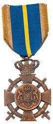 Königreich Rumänien Treuedienst Ehrenkreuz in Bronze mit Schwertern, ab 1932