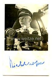 Luftwaffe - Faksimileunterschrift von Ritterkreuzträger Generaloberst Wolfram Freiherr v. Richthofen