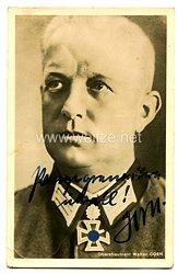 Heer - Originalunterschrift von Ritterkreuzträger Oberstleutnant Walter Gorn