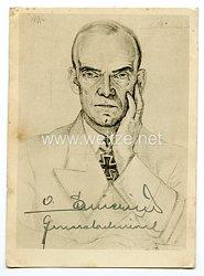 Kriegsmarine - Originalunterschrift von Ritterkreuzträger Admiral Otto Schniewind